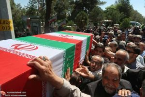 خاکسپاری شهید سماواتی